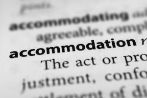 sit on the job and the rule regarding reasonable accomodations